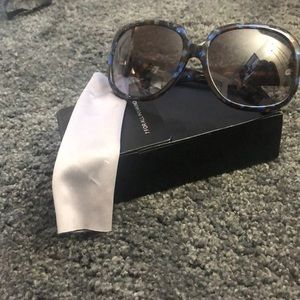7 for all Mankind blue/brown tortoise sunglasses